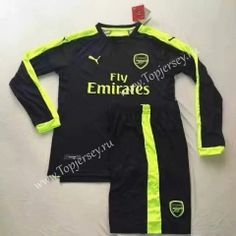 2016-17 Arsenal 2nd Away Black  LS Soccer Uniform