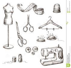 ropa con tijeras dibujo - Buscar con Google