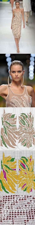 Астра от Stella McCartney - платье в филейной технике.