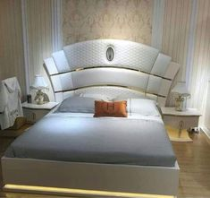 Bedroom Cupboard Designs, Wardrobe Design Bedroom, Bedroom Bed Design, Bedroom Furniture Design, Bed Furniture, Home Decor Furniture, Luxury Furniture, Bed Headboard Storage, Bed Headboard Design