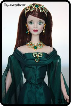 2000 Empress of Emeralds™ Barbie® - Royal Jewels Collection™ by My lovely Barbie, via Flickr