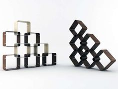 Modular Square Shelving  'Smartsquare' by Pietro Russomanno Can Be Arranged in Multiple Ways
