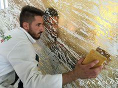 Try plaster then sealer then metallic wax