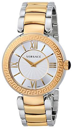 1a14e545fe4 Versace Women s VNC050014 Leda Gold Ion-Plated and Stainless Steel Watch  Versace Watches