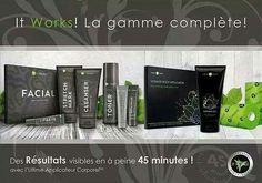 Tous les produits de la gamme It Works, Produits cosmétiques à base de plantes. https://www.facebook.com/groups/1708243256054139/
