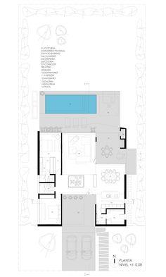 PLANTA GENERAL: Casas de estilo minimalista por VISMARACORSI ARQUITECTOS