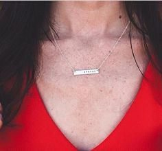 Personalized Gold Bar Name Necklace by AnnabellandLouise on Etsy