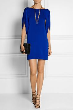 Cobalt, Low-Back Evening Dress