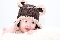 Baby bear Hat crochet bear hat baby bear outfit by Amaiahandmade