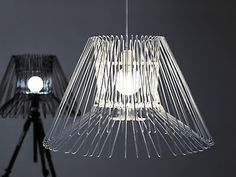 Recycle clothes hangers into cool lights! #recycle #lamp #light