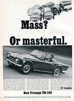 1968 Triumph TR-250 Advertising Road & Track May 1968 | Flickr - Photo Sharing!