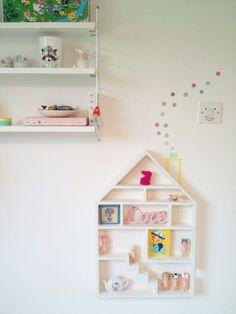 Ruby's dollhouse shelf and washi tape chimney