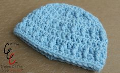 """Cream Of The Crop Crochet ~ 18"""" Doll Squares n Rows Hat {Paid Crochet Pattern}"""
