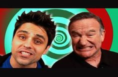 "Robin Williams guest appeared on Ray's show ""Equals 3"" http://whyareyoustupid.com/wp-content/uploads/img_3694_3-short-hairy-guys-ray-william-johnson-video.jpg"