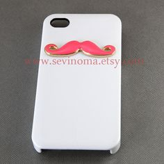 SALE   pink Mustache Iphone 4 Case Cover iPhone 4s by Sevinoma, $8.99