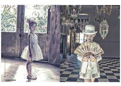 Great fantasy Venetian kids fashion shoot by French photographer Gerard Harten via@smudgetikka