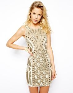Image 1 - Needle & Thread - Sundown - Mini robe à motif géométrique