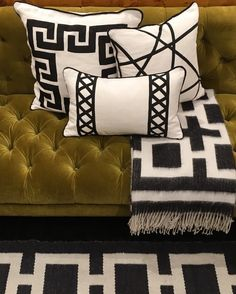Spruce up your sofa with Jonathan Adler Positano Pillows.