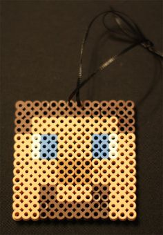 Minecraft Steve Ornament by TheMightyBeads on Etsy, $8.00