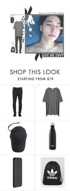 """""""The Eve-EXO Dance Practice"""" by leetaesong ❤ liked on Polyvore featuring Balmain, Momewear, S'well, Just Mobile, adidas, men's fashion and menswear"""