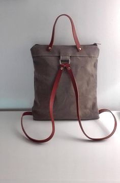 Canvas backpack, canvas and leather backpack, backpack in canvas, urban bakpack, travel bag – gift for wife – laptop bag – bag for woman Rucksack aus Canvas Canvas und Leder Rucksack Rucksack in Tote Handbags, Tote Bags, Duffle Bags, Mens Pouch, Waxed Canvas Bag, Canvas Canvas, Canvas Travel Bag, Travel Bags, Tote Backpack