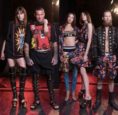 Fausto Puglisi 2017 Spring Summer Mens Lookbook Presentation - Pitti Uomo Florence Fashion Week Italy - Train Station Decorated Embellishments Adorned Bedazzled Metallic Studs Crosses Coins Gladiator Sandals Moto Motorcycle Biker Leather Jacket Roman Soldier Patches Sun Silk Shirt Boots Shorts Over Pants Flowers Floral Geometric Hawaiian Swimming Trunks Surf Boxing Shorts Bomber Jacket Gym Strap Frayed Raw Hem Denim Jeans