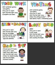 Daily 5 center cards