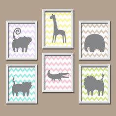 GIRL Jungle Theme Safari Animals Jungle Nursery ZOO by TRMdesign