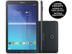 "Tablet Samsung Galaxy Tab E 8GB 9,6"" 3G Wi-Fi - Android 4.4 Proc. Quad Core Câm. 5MP + Frontal  Veja essa super oferta!"