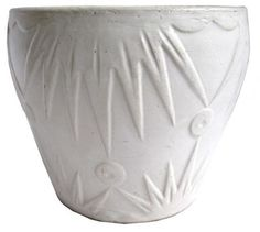White Ceramic Planter by Robinson Ransbottom Pottery Co. | Modernism. Put plants in something like this.