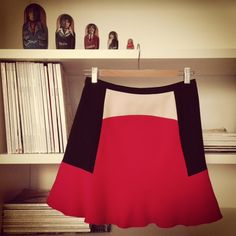 coral crush and Zara skirt A CRUSH FOR CORAL