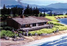 Rear Elevation of Contemporary   Retro   House Plan 57402