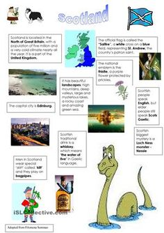 A presentation about Scotland. Most info from Wikipedia.  - ESL worksheets