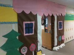 Gingerbread house Classroom Door Decor