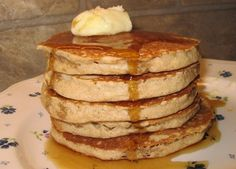 Coleen's Recipes: Honey- whole wheat pancakes