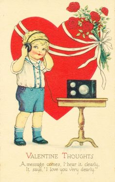 it's after Valentine's Day. But a friend just found this little treasure of a vintage Valentine postcard, so I had to share it. Victorian Valentines, Vintage Valentine Cards, Vintage Greeting Cards, Vintage Ephemera, Vintage Holiday, Valentine Day Cards, Vintage Postcards, Valentine Ideas, Vintage Images