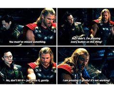Thor, Loki chris hemsworth and Tom hiddleston