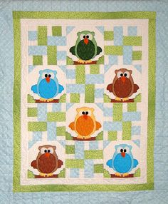 Baby & Kids Wall Quilt Patterns - The Hoots! Owl Baby Quilt ... : owl quilt patterns baby - Adamdwight.com