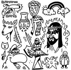 Trippy Drawings, Mini Drawings, Graffiti Drawing, Art Drawings, Cool Small Tattoos, Cool Tattoos, Traditional Tattoo Flash Sheets, Homemade Tattoos, Doodle Tattoo