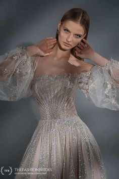 Strekoza 2020 Spring Bridal Collection – The FashionBrides Short Wedding Gowns, Second Wedding Dresses, Wedding Dress Bustle, Under The Skirt, Sophisticated Bride, Gowns With Sleeves, Princess Wedding, Beautiful Gowns, Bridal Collection