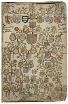 Pedigree chart of Queen Elizabeth I - c. 1590