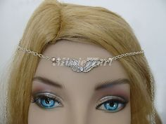 Silver plated Small wings Circlet/Head piece with Diamante $25.95