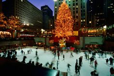 I have skated on the rink at Rockefeller Center underneath Christmas tree and statue of Prometheus, Manhattan.