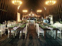 Inn at Mount Vernon Farm Barn Venue with Farm Tables #farmtables #barnvenue #barnweddings #rusticweddings #virginiawedding #southernweddings #innatmountvernonfarm #sperryville #legendscatering www.legendscatering.com