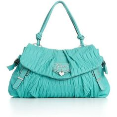 Teal leather purse. Love the color.
