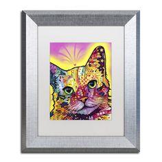 Tilt Cat by Dean Russo Framed Painting Print