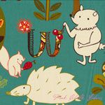 Keiki Mind Your P's and Q's Forest Critters Teal [MODA-32710-14] - $10.45 : Pink Chalk Fabrics is your online source for modern quilting cottons and sewing patterns., Cloth, Pattern + Tool for Modern Sewists