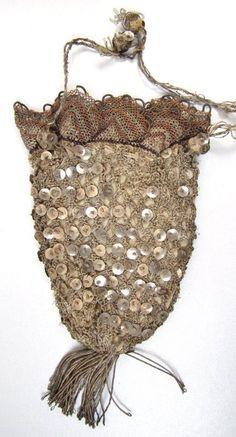 Pre 1800 Silver Sequined Reticule