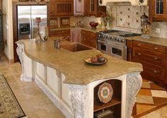 Victorian, Curved Concrete Countertops Stone Passion Salt Lake City, UT