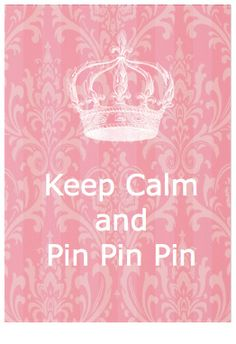 PINK~ Keep Calm & Pin Pin Pin. So glad to have something I can go to when I'm stressed & anxious & there is no mess involved!